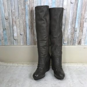 Ash 37 Ursula Wedge Ruched Knee High Tall Boots